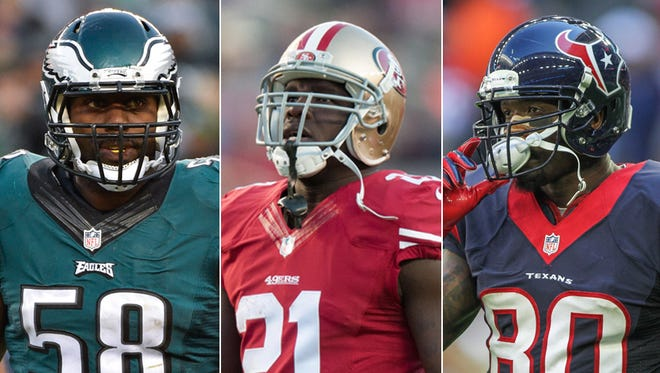 The Colts went with veterans Trent Cole, Frank Gore and Andre Johnson in free agency.