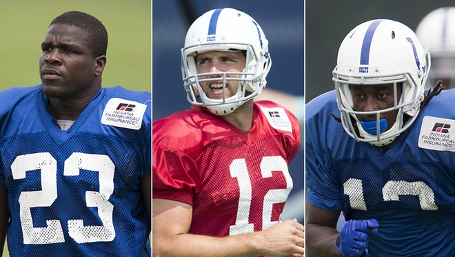 Frank Gore, Andrew Luck and T.Y. Hilton all figure to be fantasy football commodities this season.