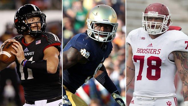 Gunner Kiel, Jaylon Smith and Jason Spriggs headline the All-Indiana College Football team.