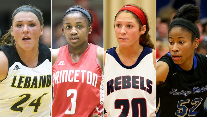 From left to right: Kristen Spolyar, Jackie Young, Lindsey Corsaro and Tyasha Harris.