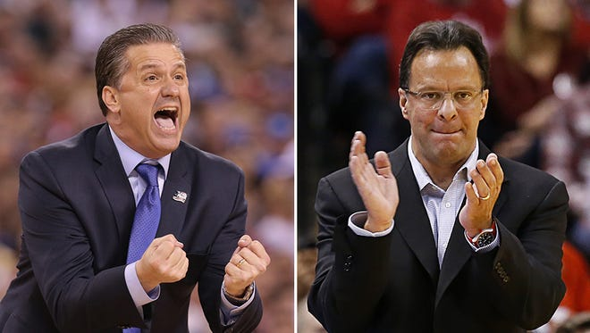 John Calipari and Tom Crean's teams could be on a collision course Saturday.