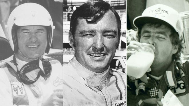 Kansas-born Rodger Ward (from left), Johnny Rutherford and Rick Mears account for nine Indy 500 wins