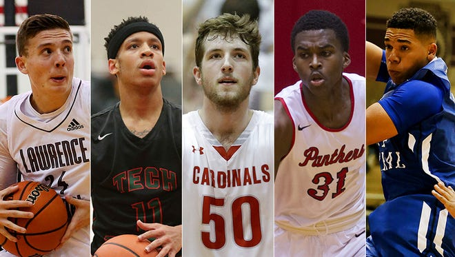 From left to right: Kyle Guy, C.J. Walker, Joey Brunk, Kris Wilkes and Marcus Brunk.