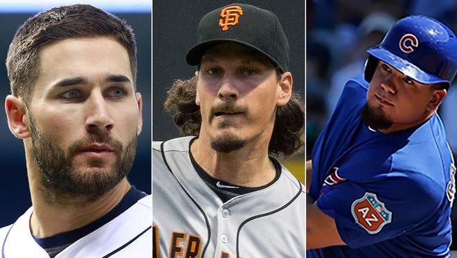 Tampa Bay's Kevin Kiermaier, San Francisco's Jeff Samardzija and the Chicago Cubs' Kyle Schwarber are some of the best current MLB players with Indiana roots.