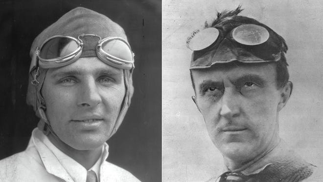 Louis Meyer (left) and Ray Harroun are the only drivers to win the Indianapolis 500 after starting 28th.