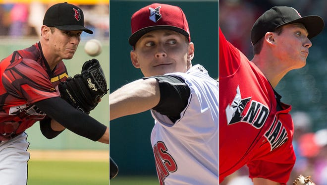 Pitchers Chad Kuhl, Jameson Taillon and Tyler Glasnow have fronted a dominant Indianapolis Indians pitching staff this season.