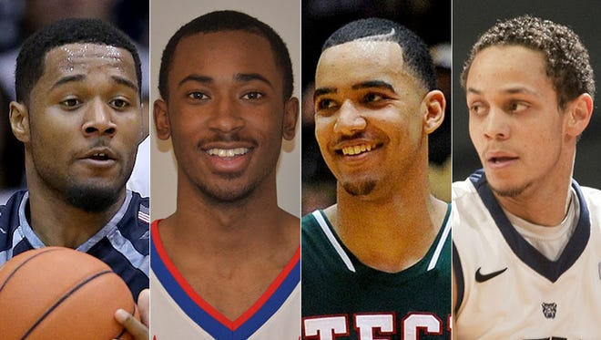Former Indianapolis high school stars D'Vauntes Smith-Rivera (from left), Jeremie Tyler, Trey Lyles and Chrishawn Hopkins.