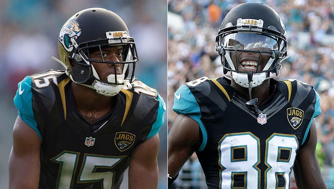Jaguars wide receivers Allen Robinson and Allen Hurns have given the Colts trouble in recent years.