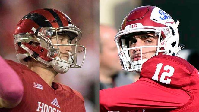 Richard Lagow and Zander Diamont, Indiana quarterbacks