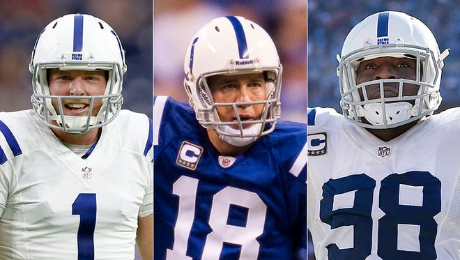 Who is the best Indianapolis Colts to wear each number? Here are three: Pat McAfee (1), Peyton Manning (18) and Robert Mathis (98).