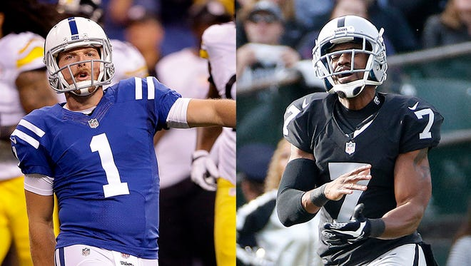 Pat McAfee (left) and Marquette King are making punting fun again.