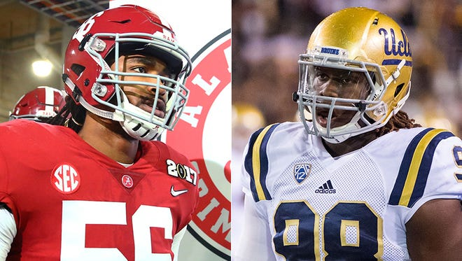 Will the Indianapolis Colts consider pass-rushers Tim Williams (Alabama) or  Takkarist McKinley (UCLA) with their first-round pick.