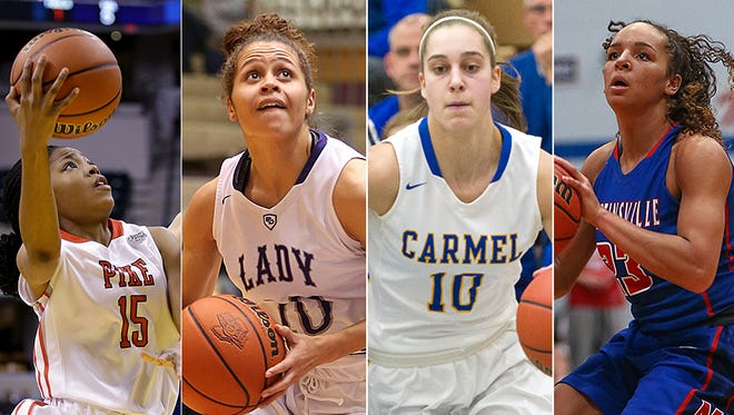 IndyStar Indiana Junior All-Stars core group (left to right) Angel Baker, Nia Clark, Amy Dilk and Kayana Traylor.