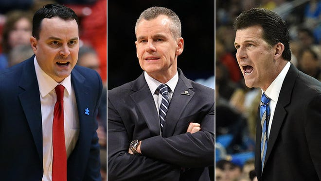 Left to right: Archie Miller, Billy Donovan and Steve Alford.