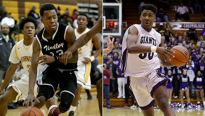 Tindley's Eric Hunter (left) and Ben Davis' Aaron Henry (right) are core Indiana Junior All-Stars.