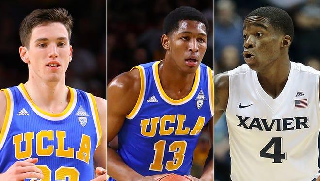 T.J. Leaf, Ike Anigbogu and Edmond Sumner, Indiana Pacers draft picks.