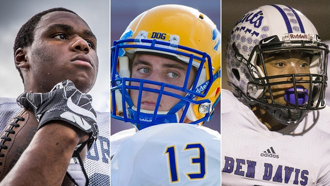 Left to right: Markese Stepp, Jake McDonald and Reese Taylor.
