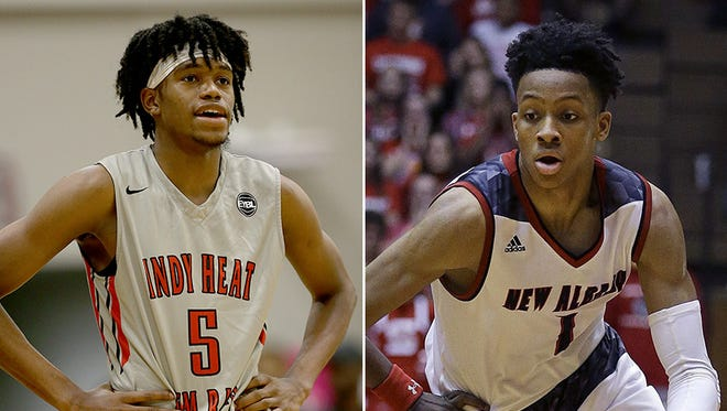 Keion Brooks (left) and Romeo Langford (right) will face off in the FORUM Tip-Off Classic.