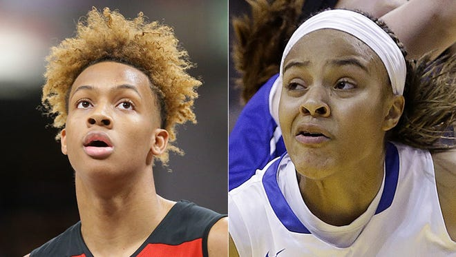 Romeo Langford of New Albany, and Katlyn Gilbert of Heritage Christian. They were named to the McDonald's All-American Game.