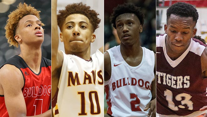 Left to right: Romeo Langford, Robert Phinisee, Mekhi Lairy and Eric Hunter.