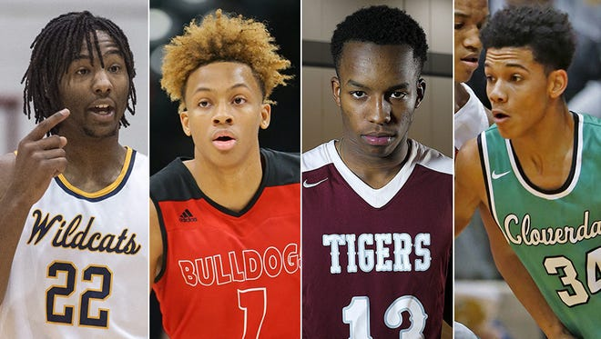 Left to right: Damezi Anderson, Romeo Langford, Eric Hunter and Jalen Moore.