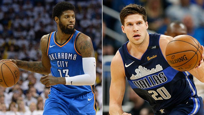 Paul George is staying in OKC while Doug McDermott is headed to Pacers.