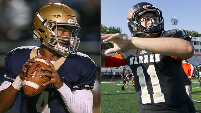 Roman Purcell (left) and Jayden George (right) will compete for Warren Central's starting QB job.