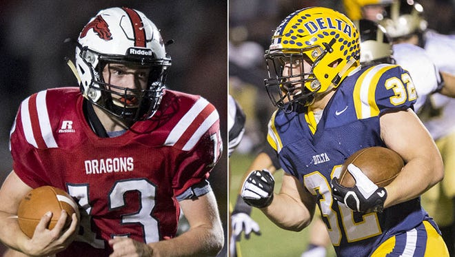 New Palestine's Luke Canfield (left) and Charlie Spegal (right)