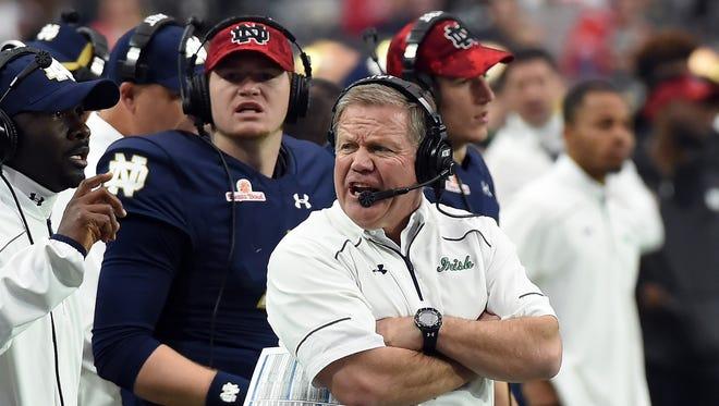 Notre Dame coach Brian Kelly.
