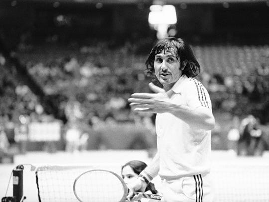 Ilie Nastase was defaulted by umpire Charles Hare during