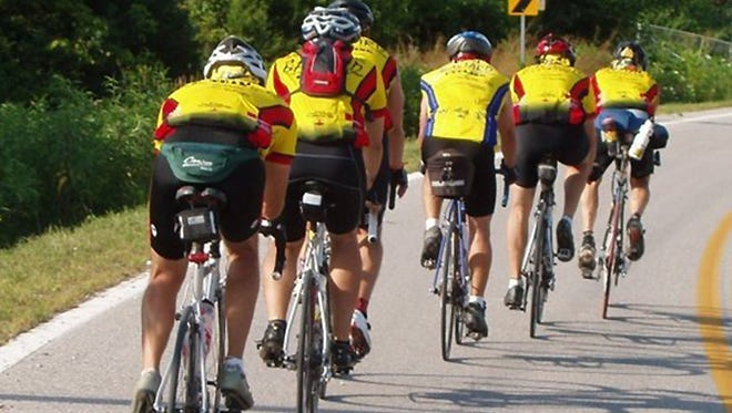 Shawn Gosch's RAGBRAI team is shown during a recent ride. Gosch was killed June 20, 2014, when he was hit by a car on Iowa Highway 7 west of Manson.