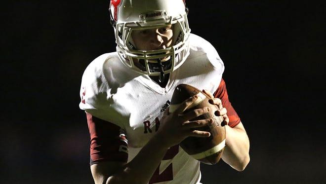 Wisconsin Rapids quarterback Benjamin Olson.
