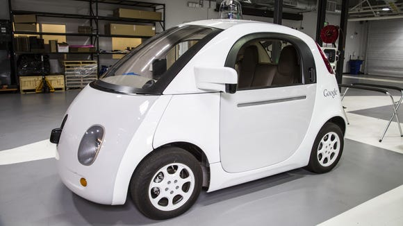 Google's self driving vehicle prototype is photographed