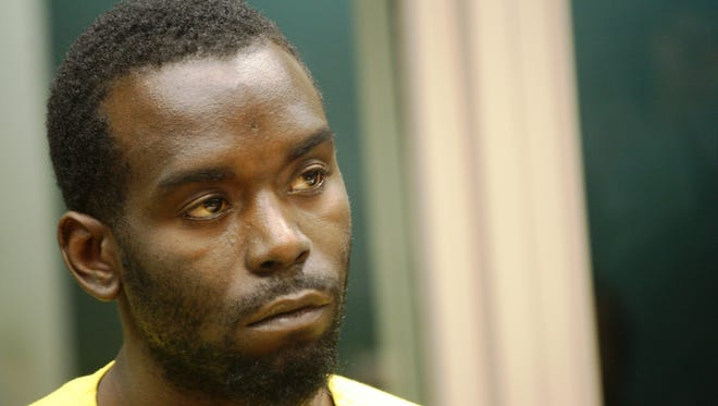 Demetrus Chaney appears in court Friday morning. A judge set his bond at $200,000 on a murder charge.