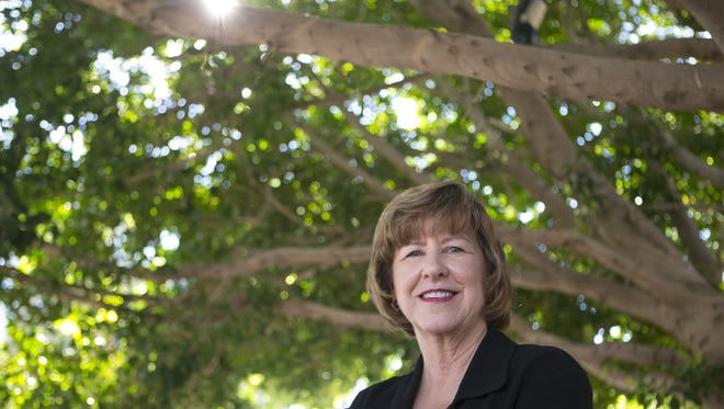 Justice Rebecca White Berch of the Arizona Supreme Court recently retired. She is seen at her Tempe home on Oct. 14, 2015.