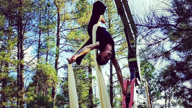 Aerialist Ashley Hall is set to perform at the Wingfield Bazaar at 1 and 4 p.m. Saturday and Sunday.