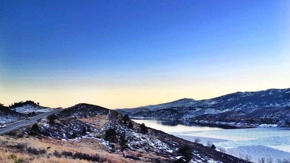 Hoorsetooth Reservoir in Fort Collins -- I'm glad there