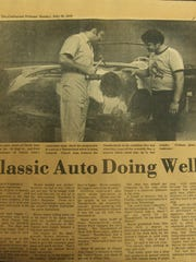 A story about CASCO from a 1979 edition of the Coshocton Tribune. Original photo by Gary Anderson, from left: Rick Little, current owner of Rick's Auto Sales and Repair, and Bill Brown.