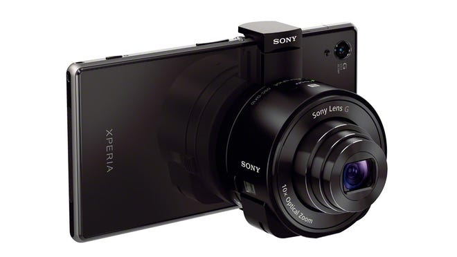 Put away the duct tape! There's a better way to strap a camera to your phone. The Sony QX10 helps smartphone photographers.