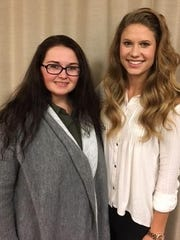Kassi Parker and Deborah Myers were named overall Outstanding Senior 4-H members at Campbell County 4-H Advisory Council's recognition night.