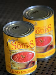 Amy's organic soups are for sale at Angelo's Food Market,