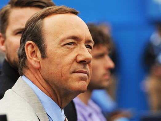 epa06297780 (FILE) - US actor Kevin Spacey watches