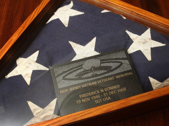 The American Flag that was given to the family of East Brunswick native Fred Bonner after he was killed in action in Vietnam.