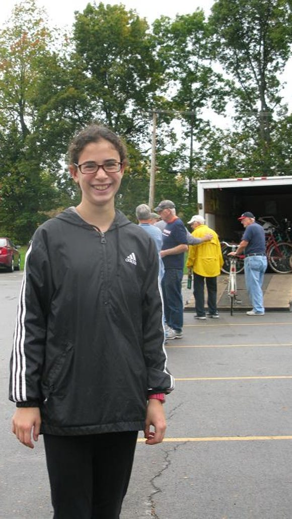Rachel Sherin was doing Community Service at the Bike Drop-Off.