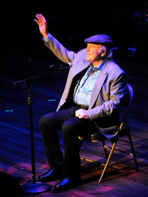 "Roy Clark gets a standing ovation after performing ""Yesterday When I Was Young"" during the ninth annual ACM Honors at the Ryman Auditorium on Sept. 1, 2015."