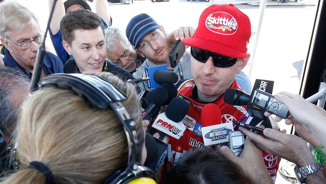 Kyle Busch gave the media a standard answer to several questions after meeting with Joey Logano at Phoenix Raceway.