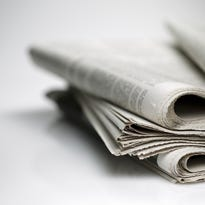 newspaper isolated on white background