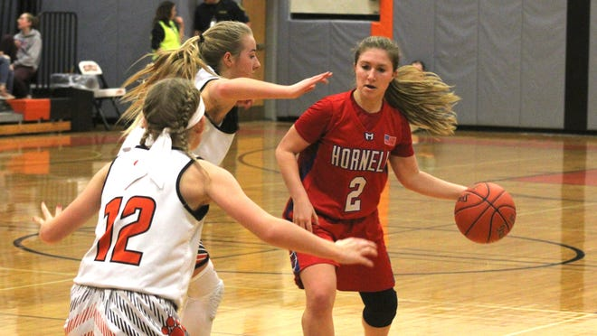 Jaden Sciotti averaged 13.1 points, 5.5 rebounds, 3.6 assists and 4.0 steals per game for the Hornell Red Raiders.