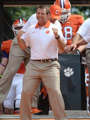 Clemson head coach Dabo Swinney and the Tigers host Appalachian State on Saturday.