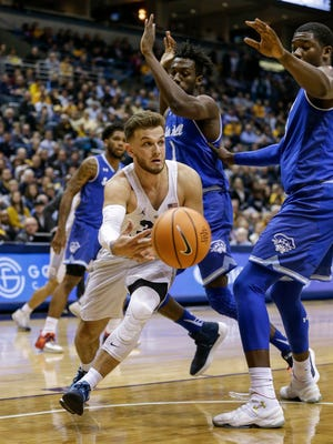 Marquette senior guard Andrew Rowsey has been tough for Big East foes to defend.